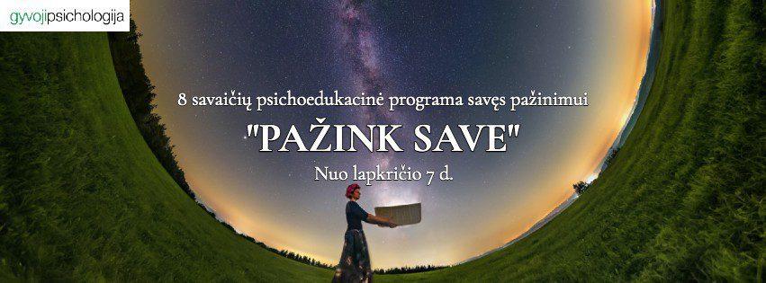 """""""Pažink save"""" online kursas"""